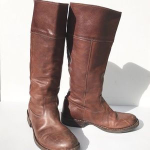 FIORENTINI & BAKER Brown leather Boots 38 7.5 8